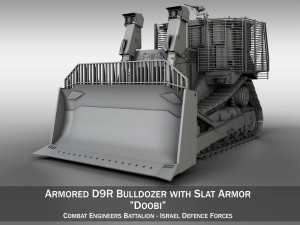 Israeli Armored D9R Bulldozer