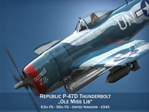 Republic P-47 Thunderbolt - Ole Miss Lib