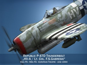 Republic P-47D Thunderbolt - HV-A - LtCol FSGa