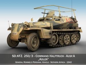 SDKFZ 250 3 - Adler - Halftrack command variant