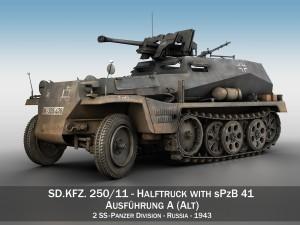 SDKFZ 250-11 - Halftruck with sPzB 41 - 2 SS-PzDi
