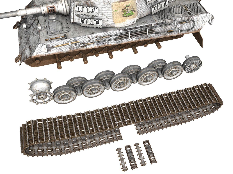 Panzerbefehlswagen Tiger - Ausf B - III 3D Model in Tank 3DExport