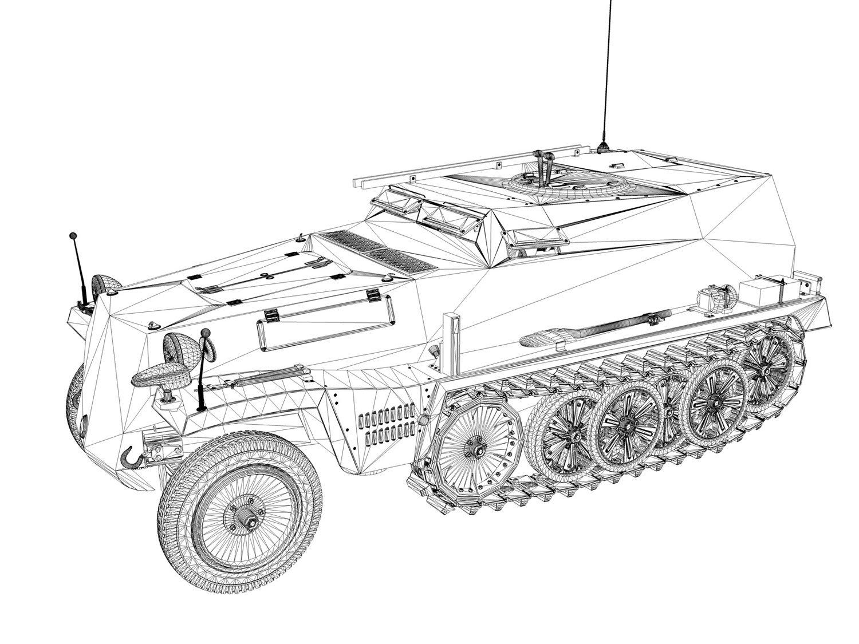 SDKFZ 253 - BeobPzWg - StuGAbt191 3D Model in Tank 3DExport