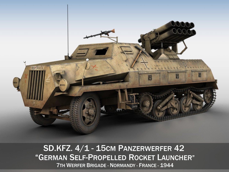 SDKFZ 4 - Panzerwerfer 42 - 7WB 3D Model in Artillery 3DExport