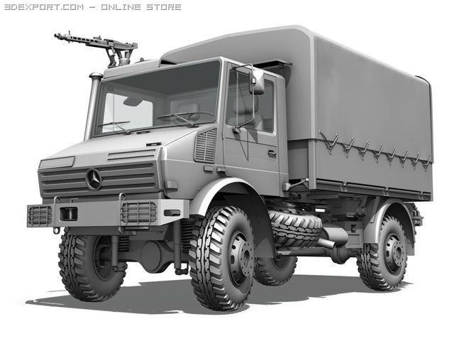 Mercedes Benz Unimog U1300 ISAF 3D Model in Unmanned 3DExport