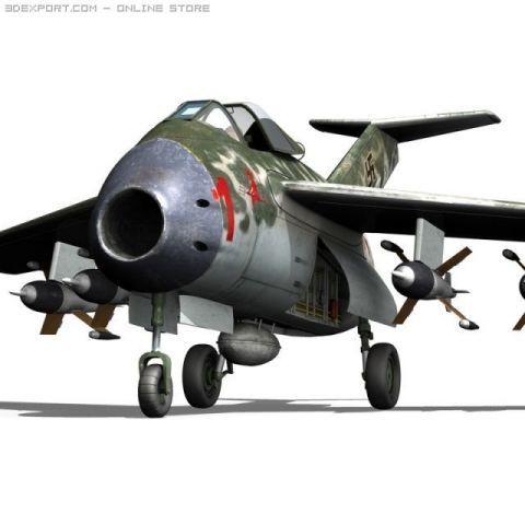 Focke Wulf TA 183 Huckebein 3D Model
