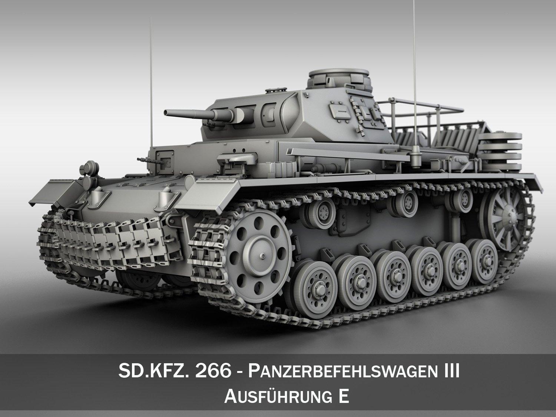 SDKFZ 267 PzBefWg III - Ausf E - Command Tank Sdkfz_267_pzbefwg_iii_ausf_e_command_tank_3d_model_c4d_max_obj_fbx_ma_lwo_3ds_3dm_stl_1400037_o