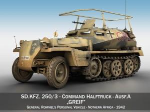 SDKFZ 250 3 - Greif - Half-track command variant