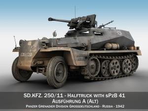 SD KFZ 250 Halftruck with sPzB 41 PzGrenDiv