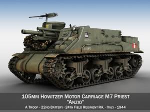 M7 Priest - Anzio - British Army