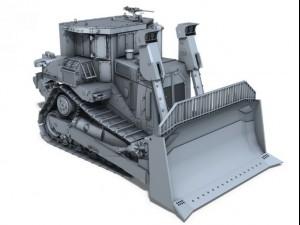Armored CAT D9R Bulldozer