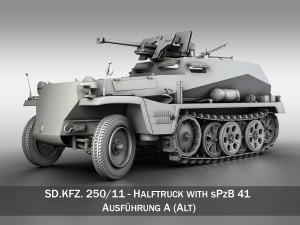 SD KFZ 250 Halftrack with antitank rifle