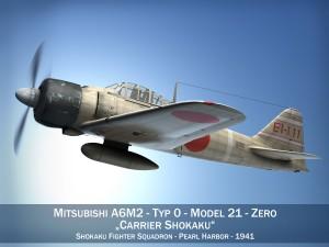 Mitsubishi A6M2 Zero Carrier Shokaku