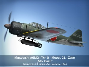 Mitsubishi A6M2 Sen Baku Kamikaze Unit