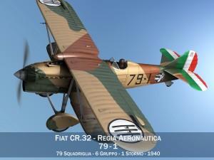 Fiat CR32 Italy Airforce 79 Squadriglia