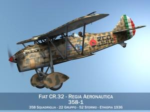 Fiat CR32 Italy Airforce 358 Squadriglia