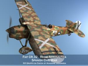 Fiat CR32 Italy Air Force XVI Gruppo