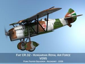 Fiat CR32 Hungarian Royal Air Force V095
