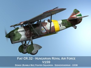 Fiat CR32 Hungarian Royal Air Force V159