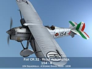 Fiat CR 32 Italy Airforce 154 Squadriglia