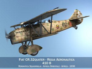 Fiat CR 32 Italy Airforce 410 Squadriglia