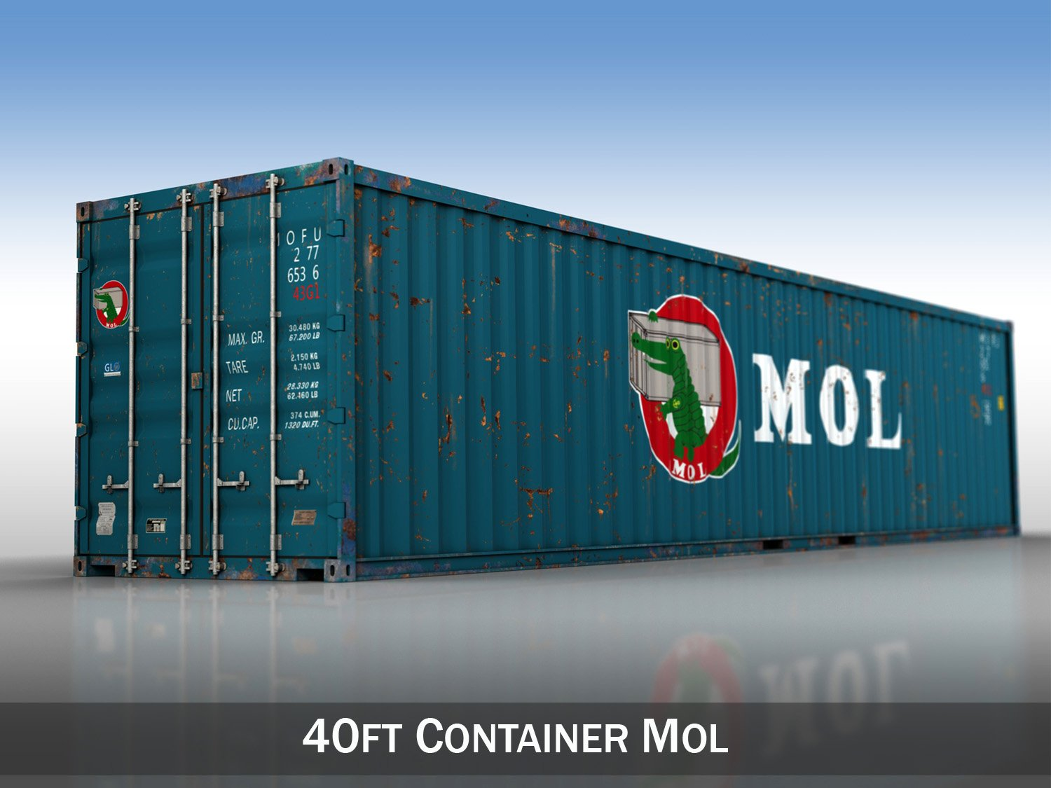 40ft Shipping Container >> 40ft Shipping Container Mol 3d Model In Shipping Containers 3dexport