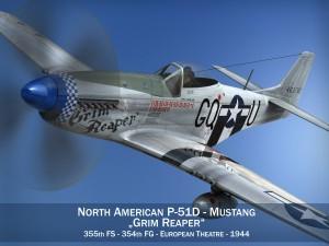 North American P51D Mustang Grim Reaper