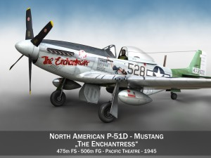 North American P51D Mustang The Enchantress