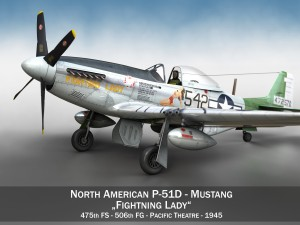 North American P51D Mustang Fighting Lady