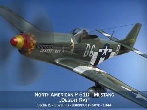 North American P51D Mustang Desert Rat