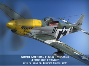 North American P51D Mustang Ferocious Frankie
