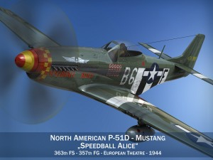 North American P51D Mustang Speedball Alice