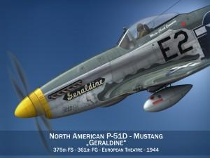 North American P51D Mustang Geraldine