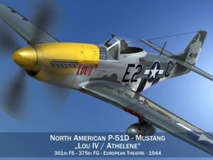 North American P51D Mustang Lou IV