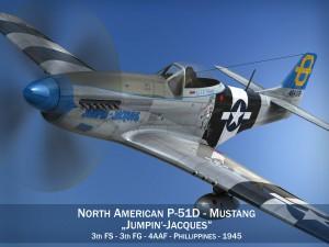 North American P51D Mustang Jumpin Jacques