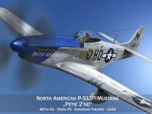 North American P51D Mustang Petie 2nd