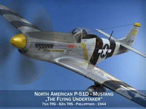 North American P51D Mustang The Flying Undertaker