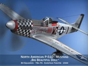 North American P51D Mustang Big Beautiful Doll