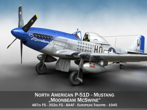 North American P51D Mustang Moonbeam McSwine