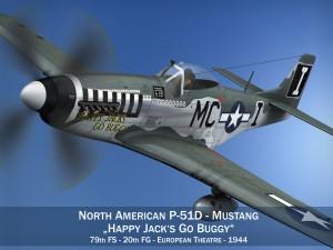 North American P51D Mustang Happy Jacks go Buggy