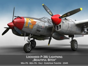 Lockheed P38J Lightning Beautiful Bitch