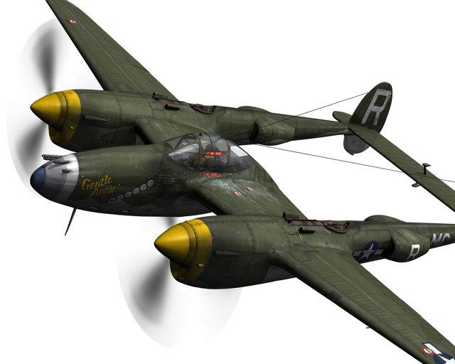 Lockheed P 38 Lightning  Gentle Annie 3D Model