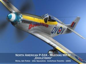 North American P 51K Mustang MK IV Dooleybird