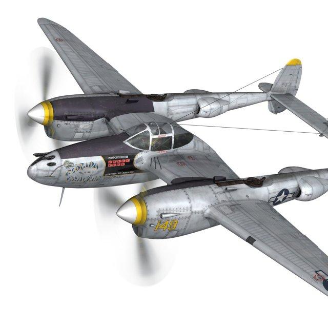 Lockheed P 38 Lightning  Florida Cracker 3D Model