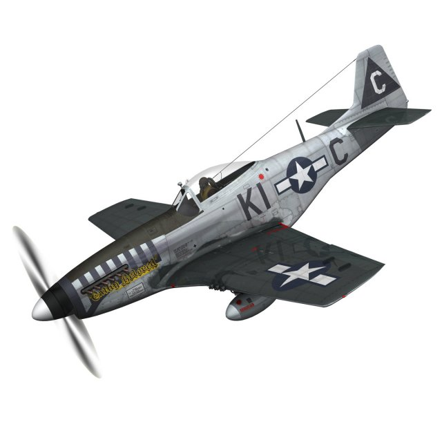 North American P 51D Mustang  Cathy Beloved 3D Model