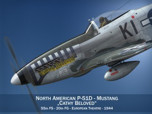 North American P 51D Mustang Cathy Beloved