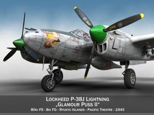 Lockheed P38 Lightning Glamour Puss II