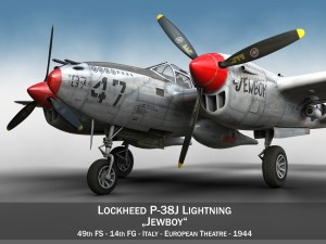 Lockheed P38 Lightning Jewboy