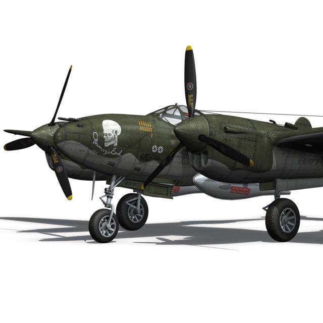Lockheed P38 Lightning  Journeys End 3D Model