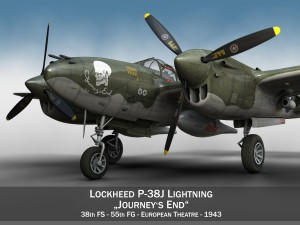 Lockheed P38 Lightning Journeys End